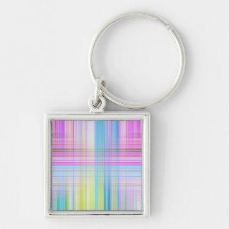Pastel Lines Keychain