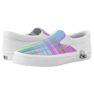 Pastel Lines Slip-On Sneakers