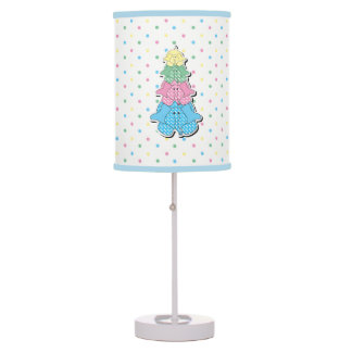 Pastel Little Baby Elephant Design Table Lamp