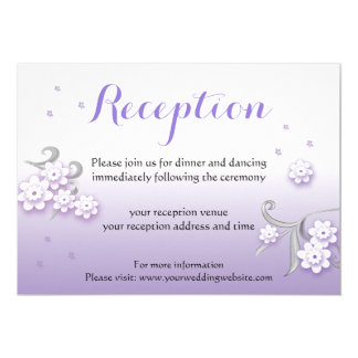 Pastel lovebirds wedding custom Reception card