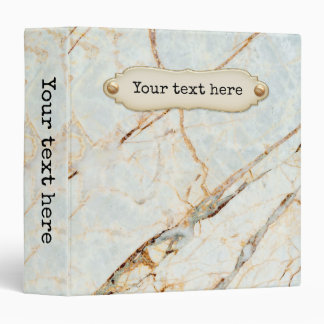 Pastel Marble Personalized Binder