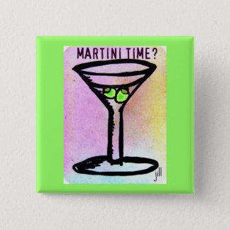 PASTEL MARTINI PRINT by Jill 2 Inch Square Button