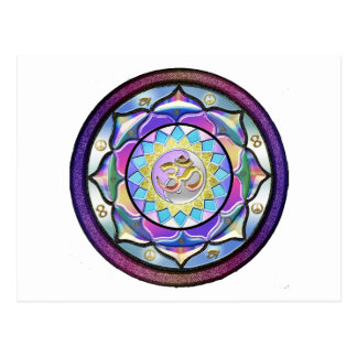 Pastel May Surprise Mandala Postcard
