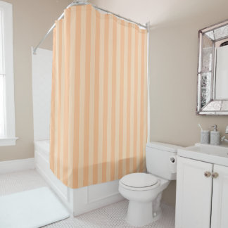 Pastel Melon Striped Shower Curtain