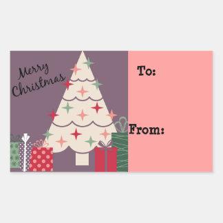 Pastel Merry Christmas Tree & Presents Sticker