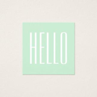Pastel minimalist modern bold hello business card