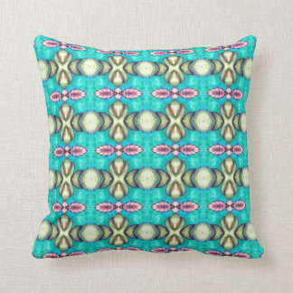 pastel mint green turquoise blue light purple leaf throw pillow