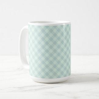 Pastel Mint Tartan 15 oz Mug
