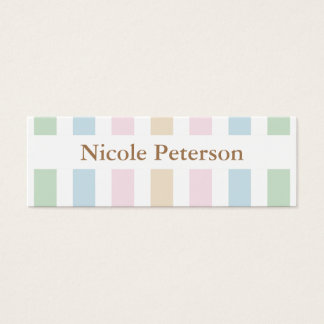 Pastel Mommy Calling Mini Business Card