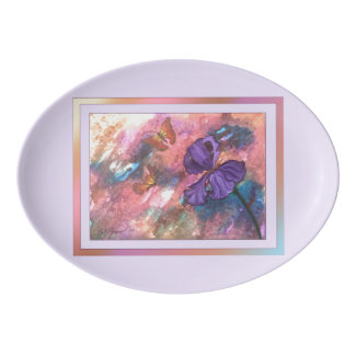 Pastel Monarchs (Lavender Trim) Platter