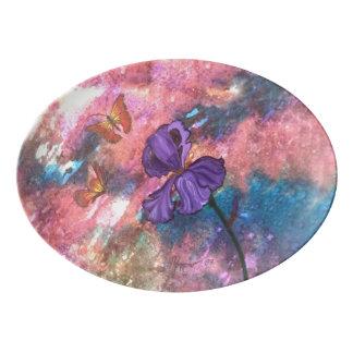 Pastel Monarchs Serving Platter