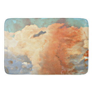 Pastel Monsoon Clouds Bath Mat