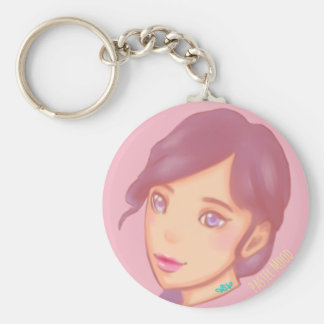 Pastel Mood Basic Round Button Keychain