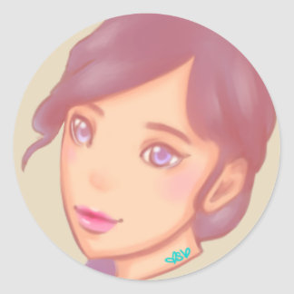 Pastel Mood Classic Round Sticker