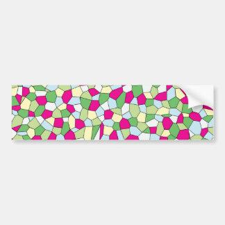 Pastel Mosaic Bumper Sticker