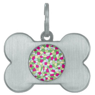 Pastel Mosaic Pet Name Tag