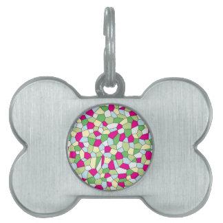 Pastel Mosaic Pet Tag