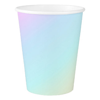Pastel Multi Color Baby Shower Birthday Fun Party Paper Cup