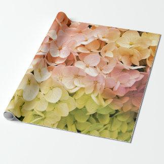 Pastel Multicolor Hydrangea Wrapping Paper
