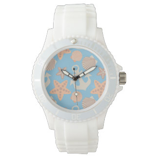 Pastel Nautical Pattern Watch