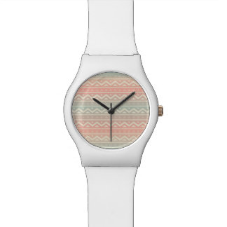 Pastel Ombre Aztec Pattern Watches