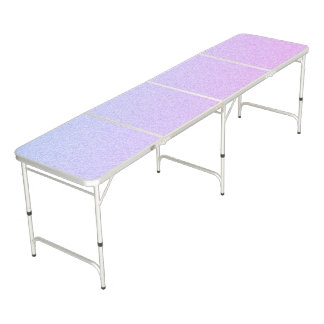 Pastel Ombre Glitter Beer Pong Table