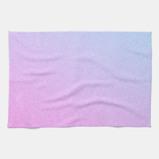 Pastel Ombre Glitter Kitchen Towel