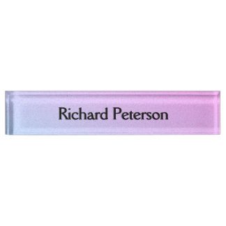 Pastel Ombre Glitter Nameplate