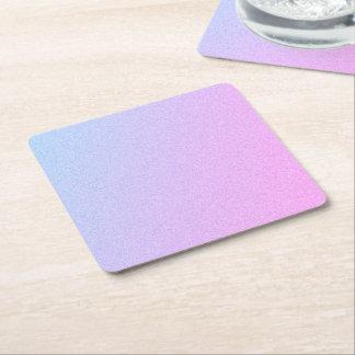 Pastel Ombre Glitter Square Paper Coaster