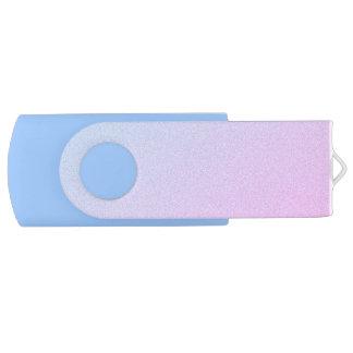 Pastel Ombre Glitter Swivel USB 2.0 Flash Drive