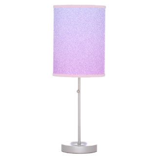 Pastel Ombre Glitter Table Lamp
