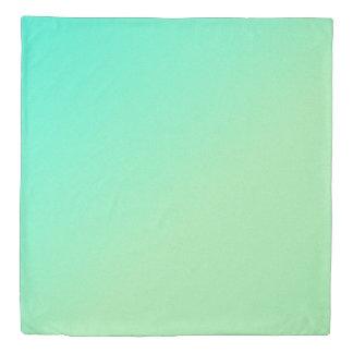 Pastel Ombre Green Duvet Cover
