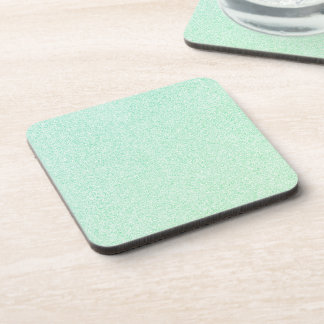 Pastel Ombre Green Glitter Look Coaster