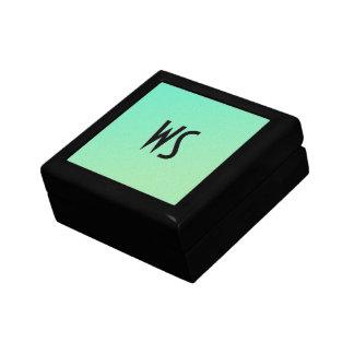 Pastel Ombre Green Glitter Monogram Gift Box
