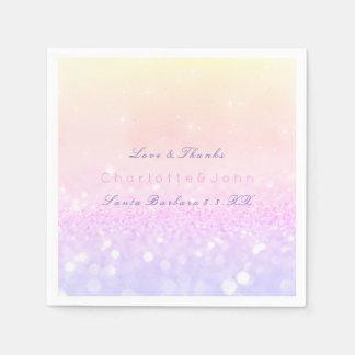 Pastel Ombre Pink Purple Sparkly Glitter Delicate Napkin