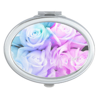Pastel Ombre Rose Heart Duo Mirror Compact Makeup Mirror