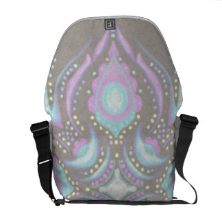 Pastel on Concrete Street Mandala Commuter Bags