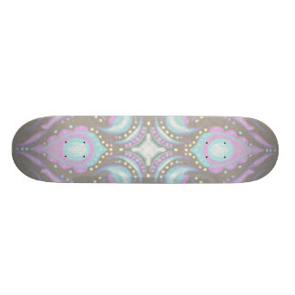 Pastel on Concrete Street Mandala Custom Skateboard