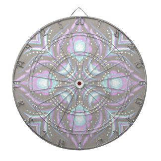 Pastel on Concrete Street Mandala Dartboard