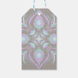 Pastel on Concrete Street Mandala Gift Tags