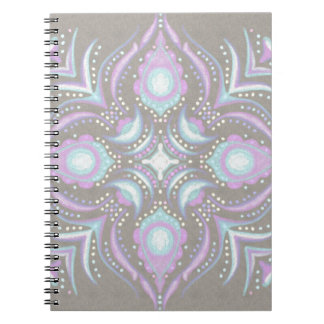 Pastel on Concrete Street Mandala Notebook