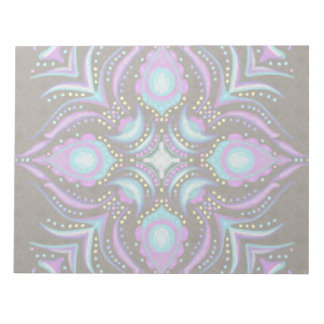 Pastel on Concrete Street Mandala Notepad