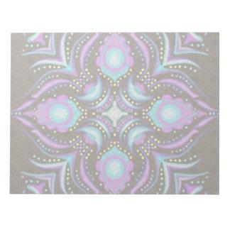 Pastel on Concrete Street Mandala Notepads