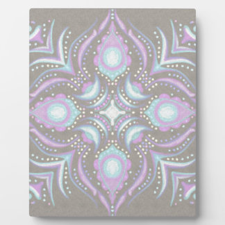 Pastel on Concrete Street Mandala Plaque
