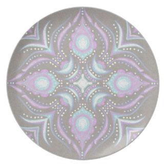 Pastel on Concrete Street Mandala Plate