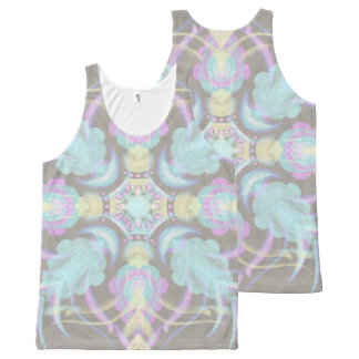 Pastel on Concrete Street Mandala (variation) All-Over-Print Tank Top