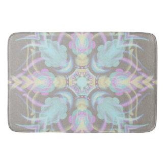 Pastel on Concrete Street Mandala (variation) Bath Mat