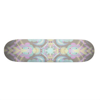 Pastel on Concrete Street Mandala (variation) Custom Skateboard