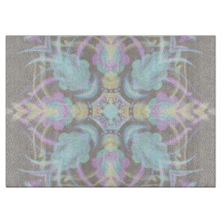 Pastel on Concrete Street Mandala (variation) Cutting Board