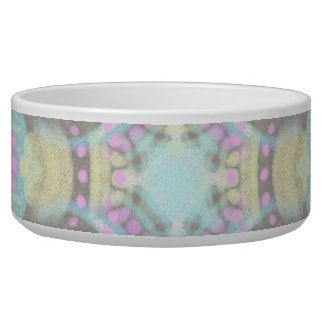 Pastel on Concrete Street Mandala (variation) Dog Food Bowl